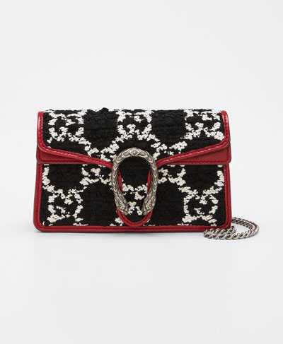Dionysus Super Mini Tweed Crossbody Bag