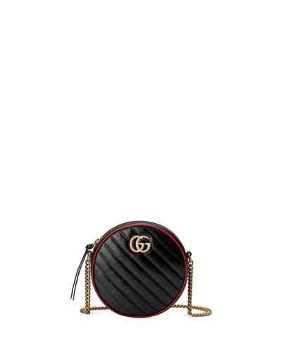 84529981a GG Marmont Mini Round Crossbody Bag Quick Look. Gucci