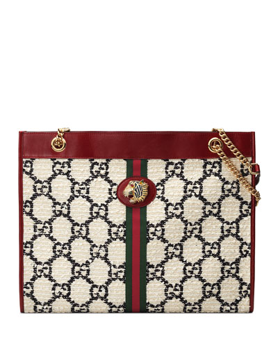 57dc20ad6 Rajah Large Tweed Tote Bag Quick Look. Gucci