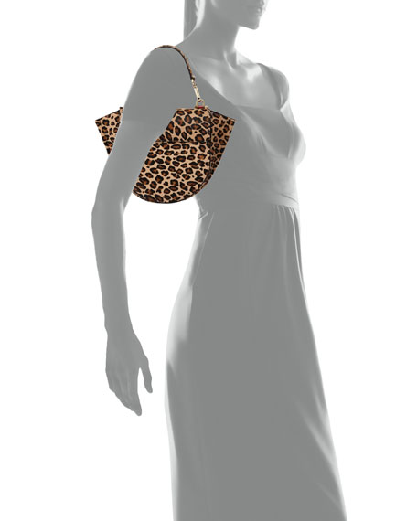 Hortensia Leopard Calf Mini Top Handle Bag