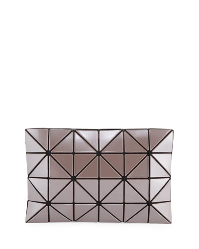 Lucent Metallic Zip Pouch Clutch Bag