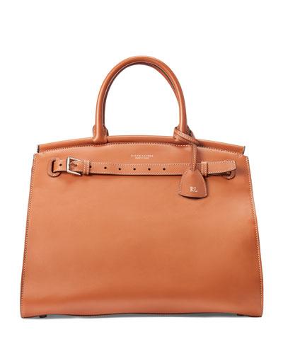 RL50 Large Leather Handbag - Silver Hardware