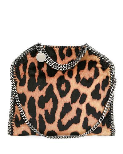 Falabella Three-Chain Leopard Tote Bag