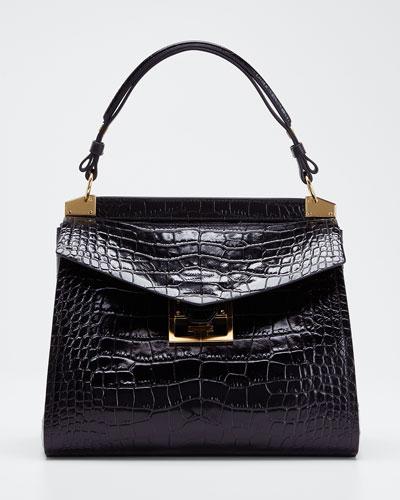 Mystic Medium Leather Top-Handle Bag