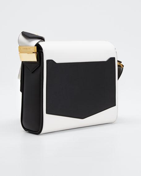 Eden Medium Colorblock Snakeskin Shoulder Bag