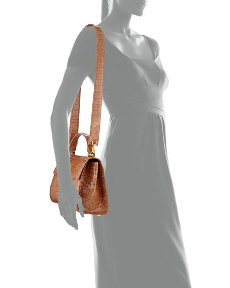 Medium Crocodile Top Handle Bag