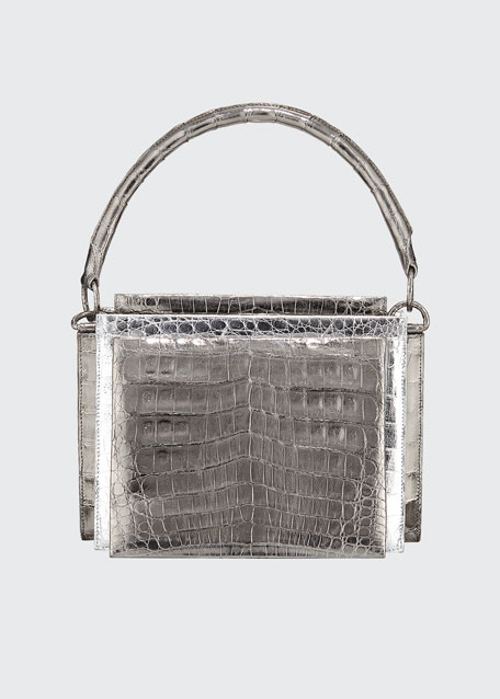 Image 1 of 1: Radizwill Crocodile Top Handle Bag