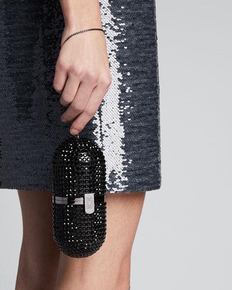 Crystal Framed Minaudiere Pill Bag