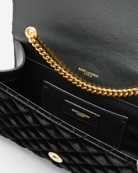 Monogram YSL Envelope Small Velvet Chain Shoulder Bag