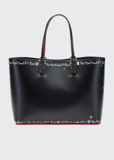 Cabata Calf P Beautiful Red Sole Tote Bag