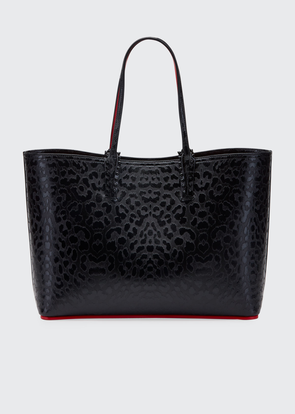 Christian Louboutin Totes CABATA LEOPARD-EMBOSSED TOTE BAG