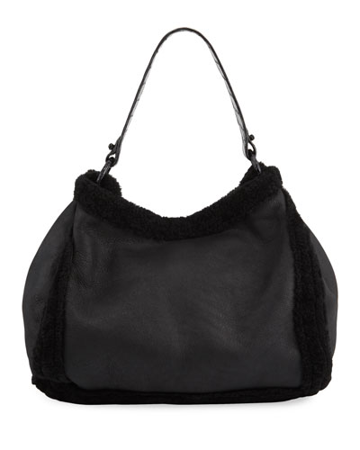 Marly Large Shearling Hobo Bag