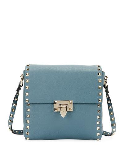 Rockstud Vitello Leather Shoulder Bag