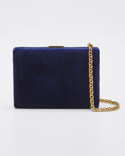 Velvet Card Case with Chain