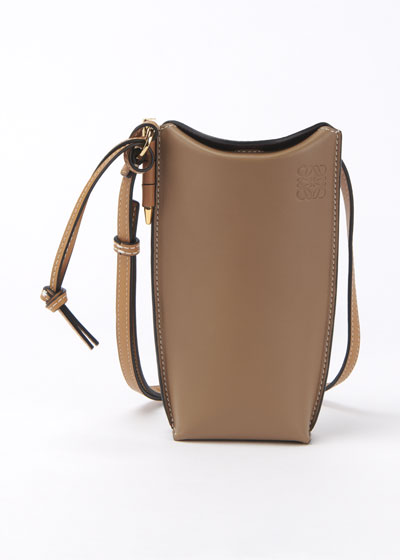 Gate Two-Tone Smooth Bucket Bag