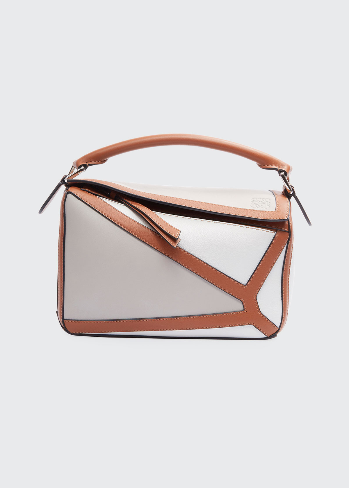 Loewe Bags PUZZLE TWO-TONE LEATHER SATCHEL BAG
