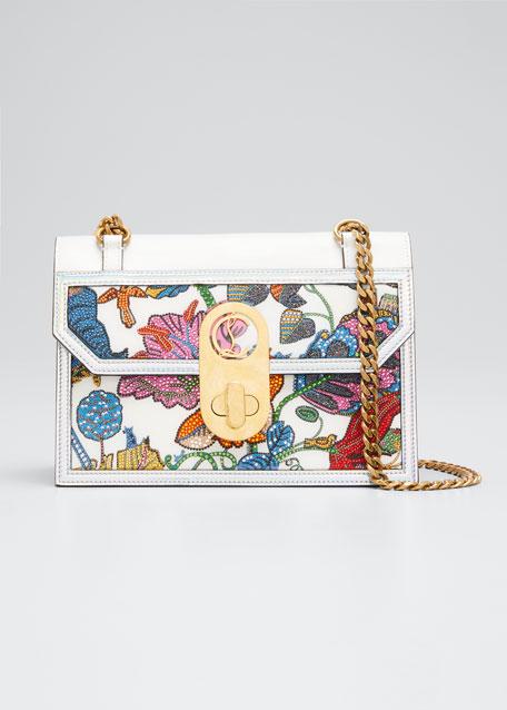 Elisa Embroidered Shoulder Bag