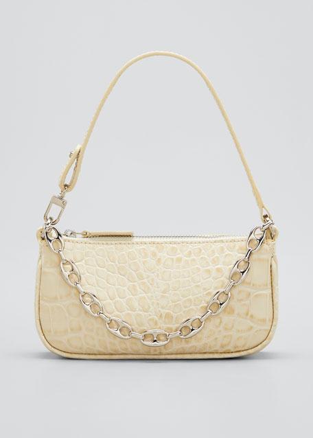Rachel Mini Mock Croc Leather Shoulder Bag