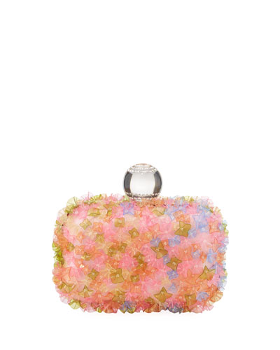 Mini Transparent Flower Clutch Bag