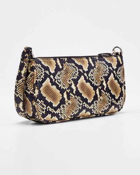 Snake-Print Rachel Shoulder Bag