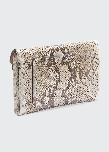 Oum Python Continental Clutch Bag