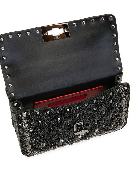 Spike It Small Embellished Shoulder Bag, Black