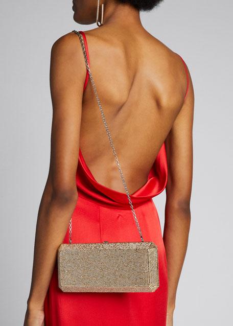 Slim Rectangle Fullbead Clutch Bag