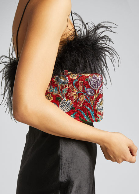 Slim Slide Floral Filigree Clutch Bag
