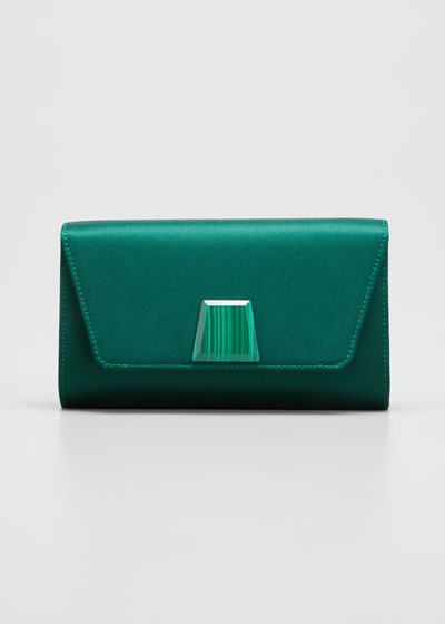 Anouk Mini Satin Clutch Bag