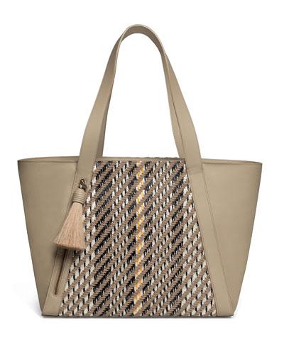 AlexaAlexa Medium Leather Tote Bag with Tassel