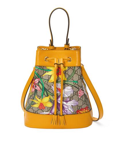 Ophidia Small GG Flora Bucket Bag