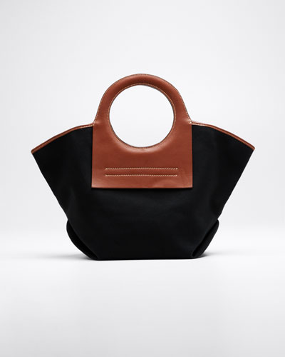 Cala Two-Tone Canvas Small Tote Bag