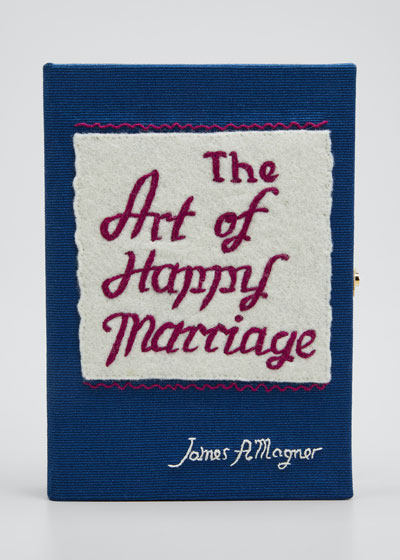 The Art Of Happy Marriage Mini Book Clutch Bag