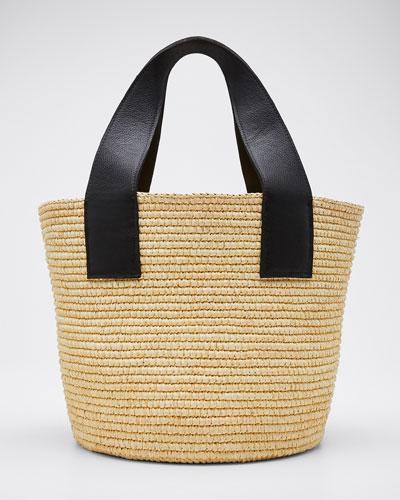 Woven Straw Maxi Tote Bag