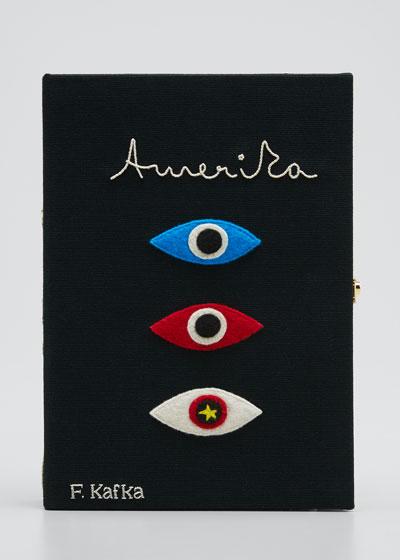 Amerika Book Stapped Clutch Bag