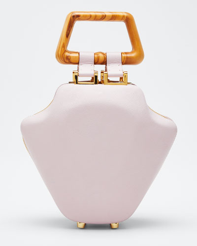 Leather Micro Tut Top Handle Bag  Pink