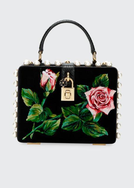 Tropical Rose Mini Top-Handle Bag