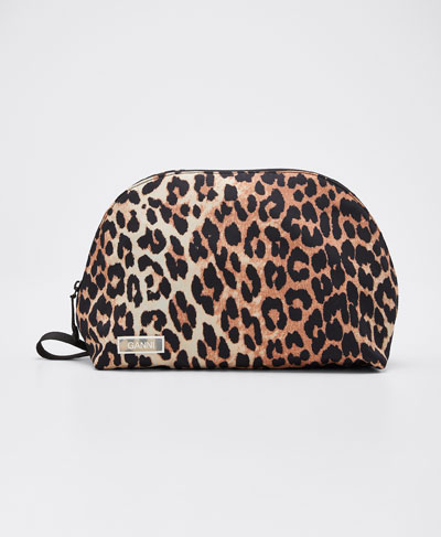 Leopard Nylon Cosmetic Case