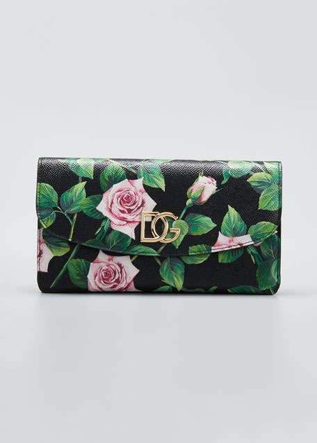Tropical Rose Mini Crossbody Bag