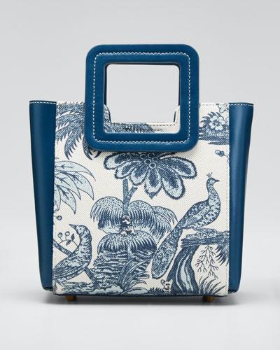 Shirley Peacock Canvas Mini Tote Bag