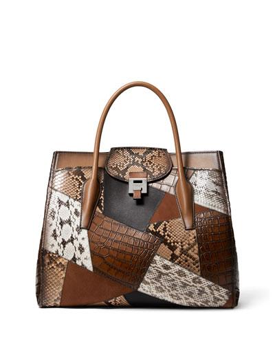 Bancroft Patchwork Weekender Satchel Bag