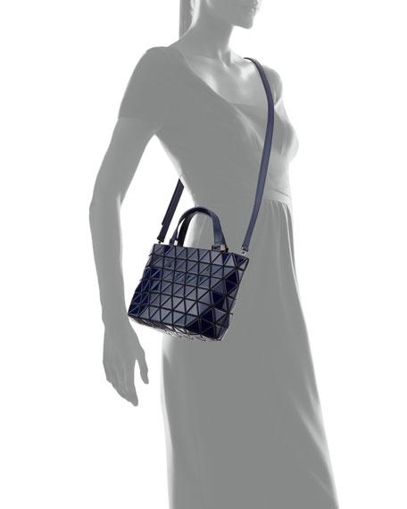 Crystal Gloss Mini Tote Bag, Navy