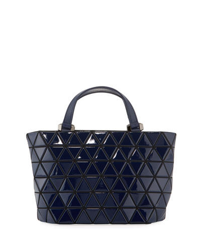 Crystal Gloss Mini Tote Bag  Navy