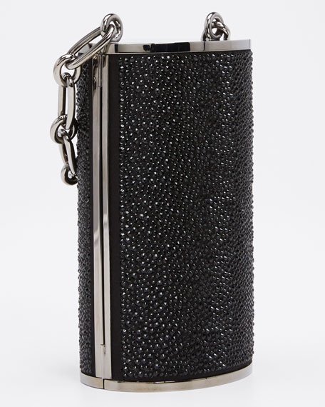 Tower Jeweled and Crystal Minaudiere