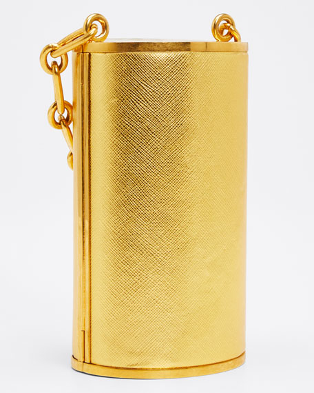 Tower Minaudiere with Jeweled Handle