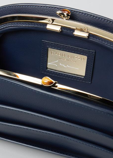 Millefoglie C Leather Clutch Bag