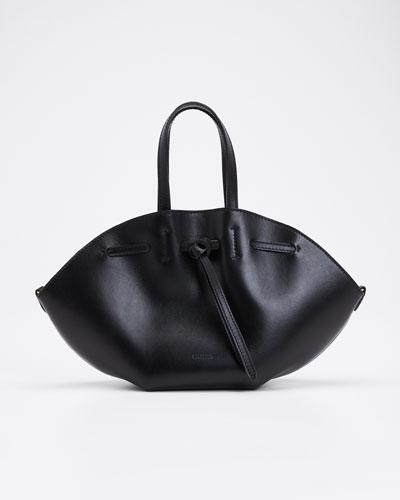 Lynne Leather Mini Tote Bag  Black