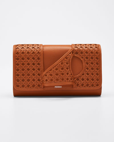 L'Asymetrique Woven Leather Glove Clutch Bag