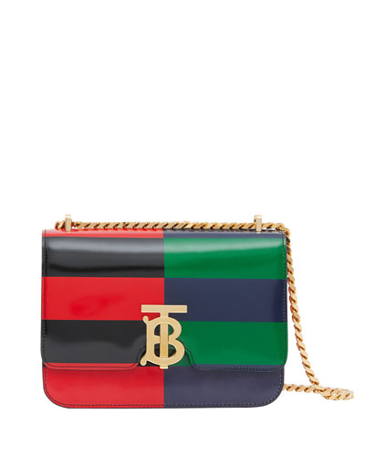 Small TB Colorblock Striped Crossbody Bag