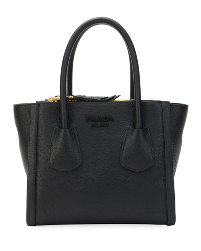 Vitello Leather Multi-Zip Small Tote Bag